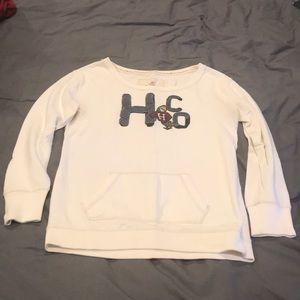 Hollister Cream H.Co. Parrot Crew Sweatshirt